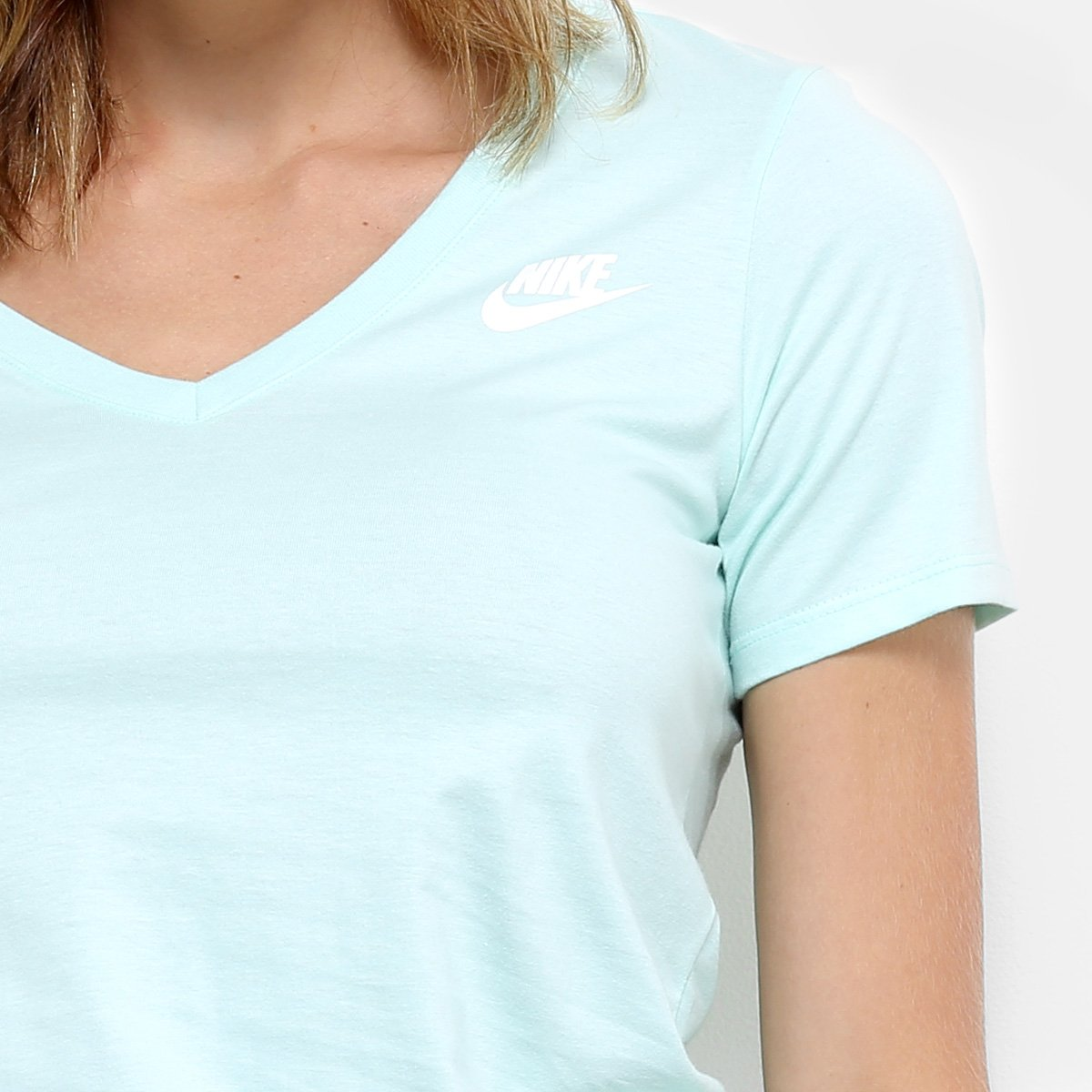 Verde água Camiseta Nsw Vneck W Lbr Feminina Nike W Nike Vneck Nsw Camiseta OA7xPwqHZ
