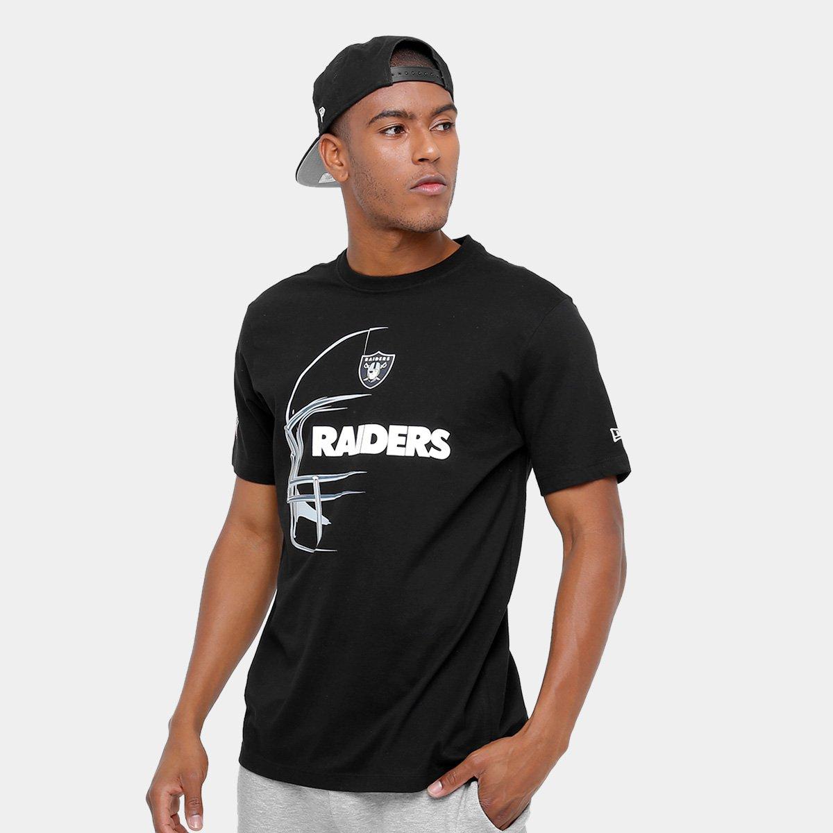 08baf40e41122 Camiseta Oakland Raiders New Era Capacete Masculina - Compre Agora ...