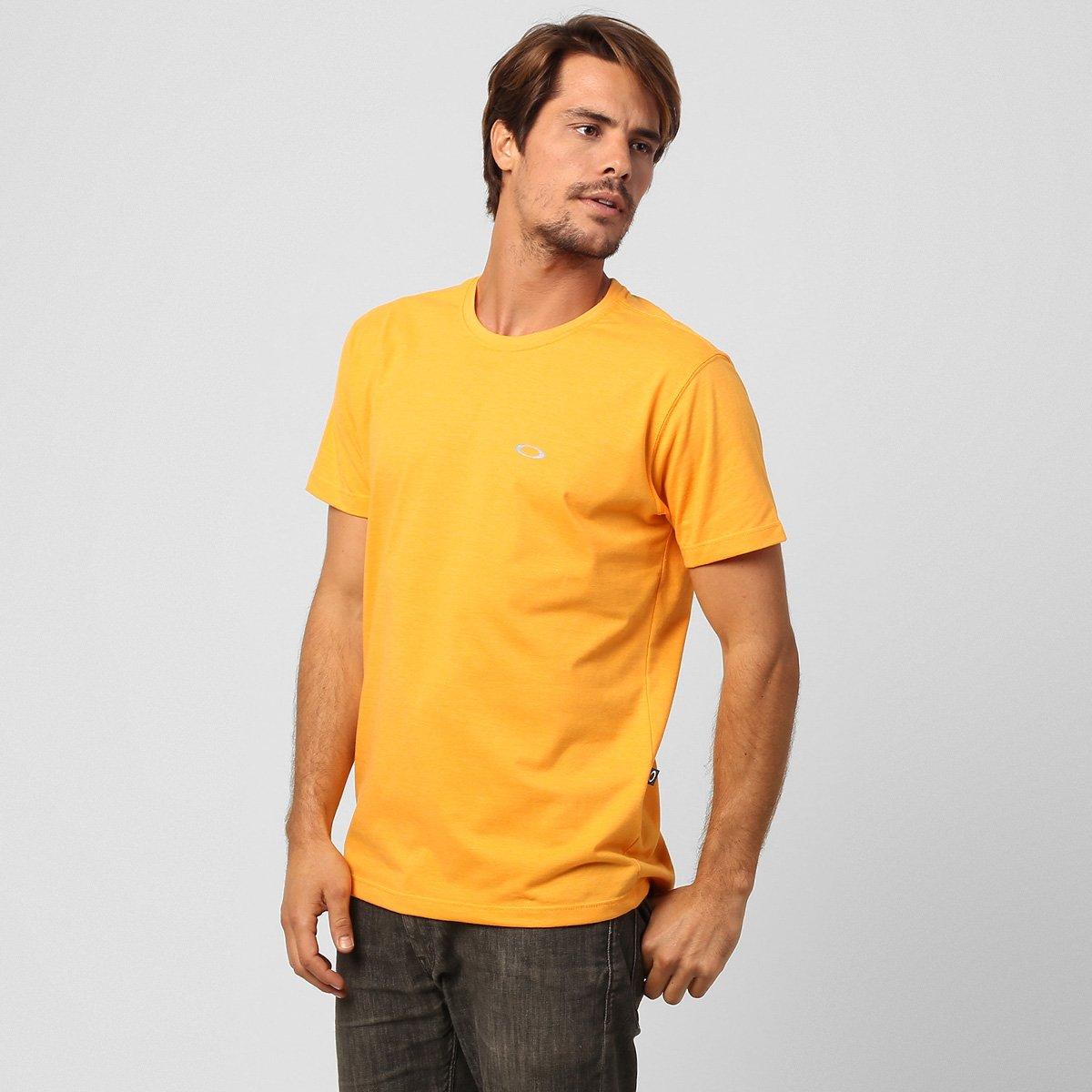 Camiseta Oakley Dry Masculina - Laranja Claro - Compre Agora  0e537b8b50b
