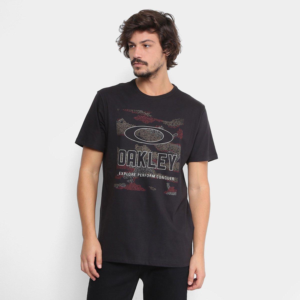 9effb5e774 Camiseta Oakley Hive Camo Tee Masculina - Preto - Compre Agora ...