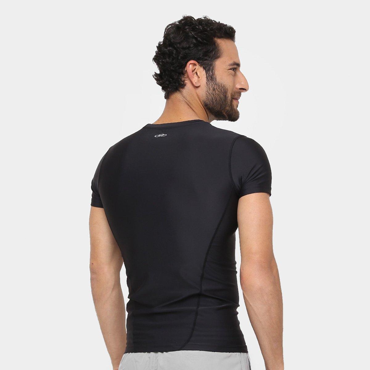 Camiseta Olympikus Compressão Masculina  Camiseta Olympikus Compressão  Masculina ... 2f3b92d81c782