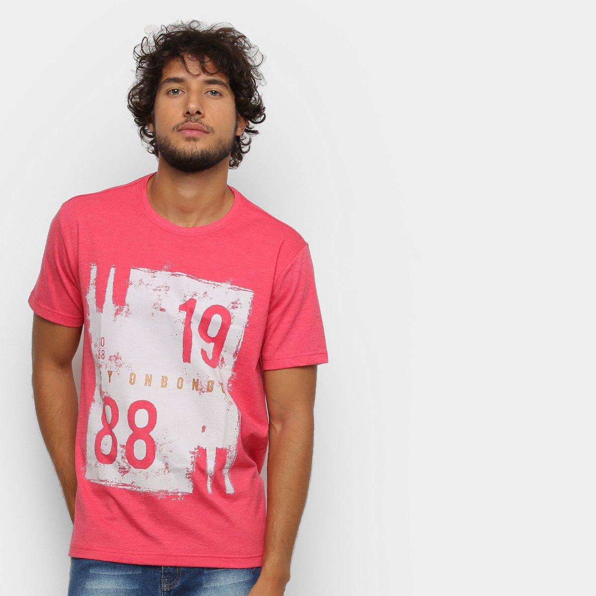 Camiseta Onbongo 1988 Masculina - Vermelho e Cinza - Compre Agora ... 95924b4dd7230