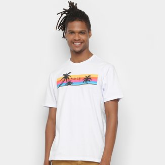 Camiseta Op+Alg Color Lines Masculina