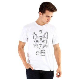Camiseta Ouroboros manga curta cat demon