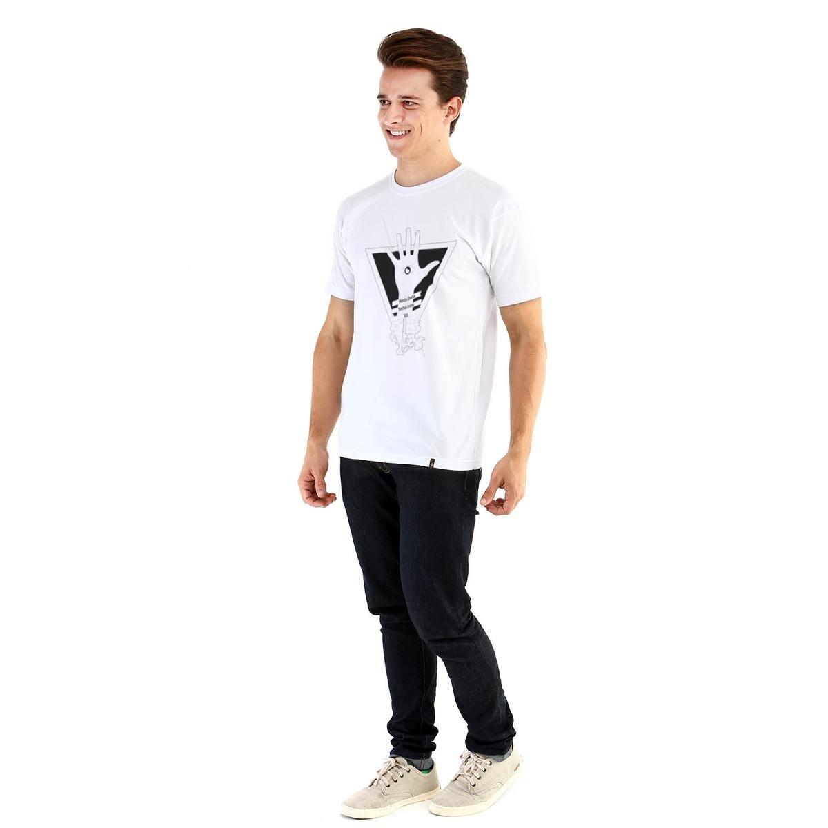 Camiseta Ouroboros manga curta Mente Aberta - Branco - Compre Agora ... 3fbd7d418a7