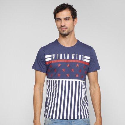 Camiseta Overcore Estampada Masculina