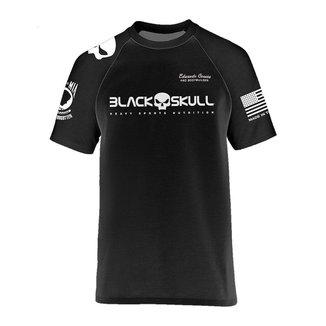 Camiseta PADRÃO Dry Fit Preta Tamanho M - Black Skull