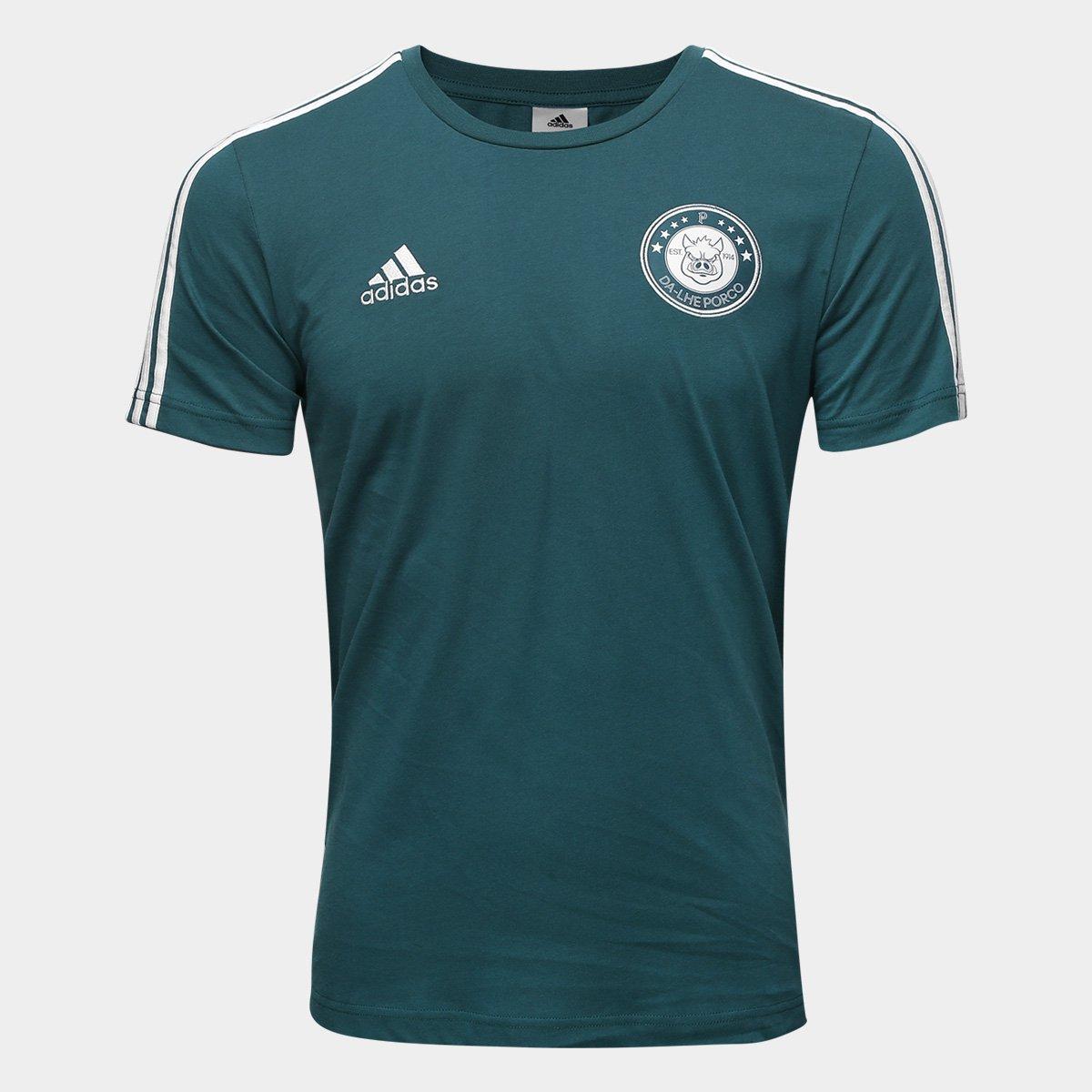 Camiseta Palmeiras Adidas 3S Masculina - Compre Agora  efc9ff4f0c7ac