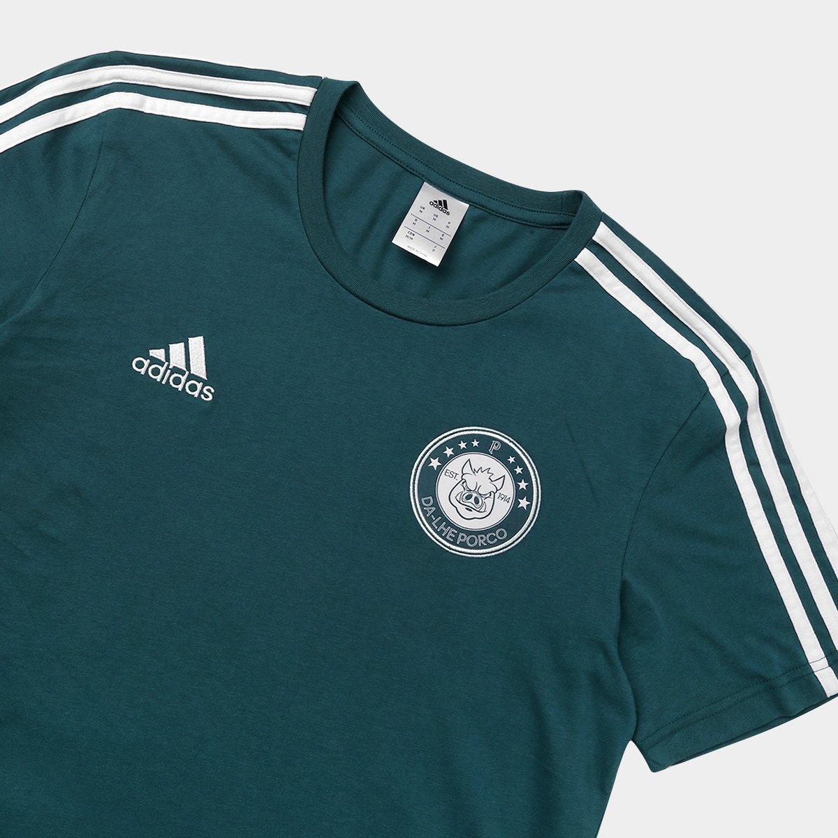 Camiseta Palmeiras Adidas 3S Masculina - Compre Agora  e6e43f85d9dd4