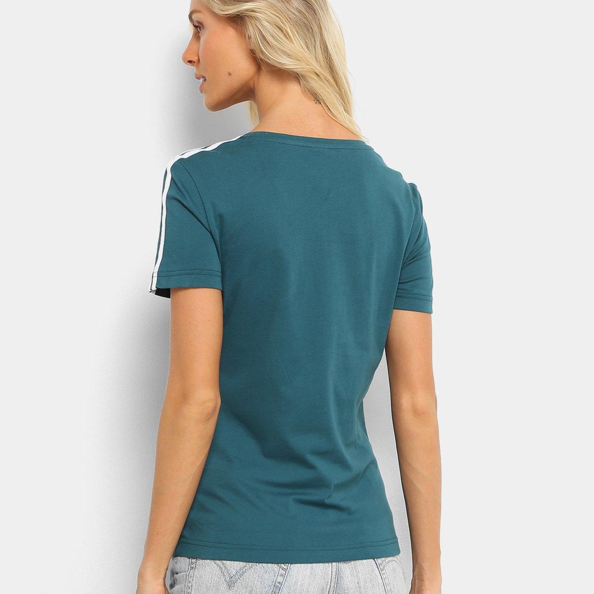 Camiseta Adidas Verde Camiseta Feminina Adidas 3Stripes 3Stripes Palmeiras Palmeiras rRwxCAqr