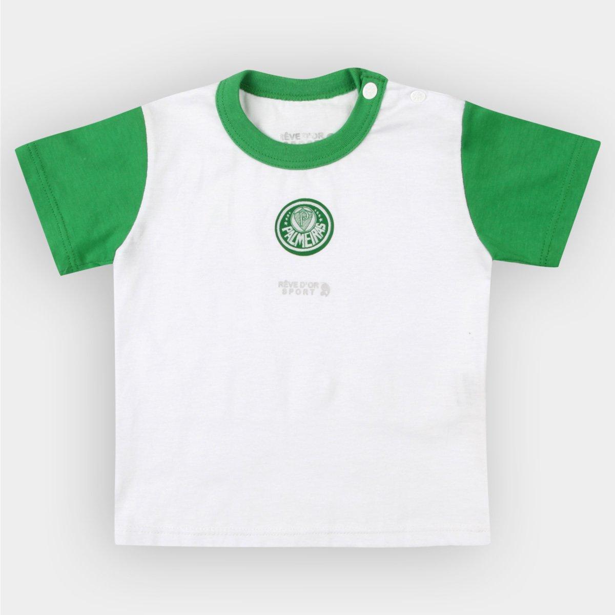 Camiseta Palmeiras Infantil Bicolor Bebê - Verde e Branco - Compre ... 10a037ae3a141