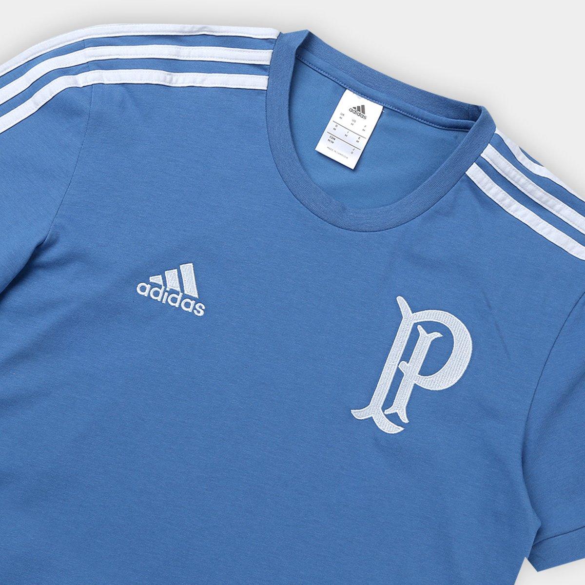 Carregando zoom. 36a9bca4cdb674  Camiseta Palmeiras Viagem Adidas Masculina  - Compre Agora Netshoes baa7aa4b7416a8 ... 89b96a5b99bec
