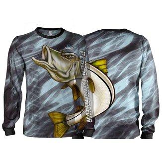 Camiseta Pesca Quisty Robalo Arisco Proteção UV Dryfit Adulto