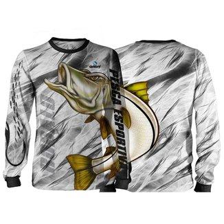 Camisa Pesca Quisty Pintado Proteção UV Dryfit Adulto