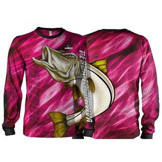 Camiseta Pesca Quisty Robalo Arisco Proteção UV Dryfit Infantil