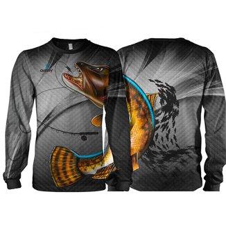 Camiseta Pesca Quisty Traíra Proteção UV Dryfit Adulto