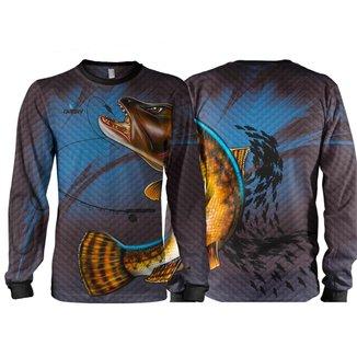 Camiseta Pesca Quisty Traíra  Proteção UV Dryfit Infantil
