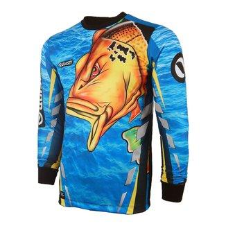 Camiseta Pesca Quisty Tucunaré Nervoso 2019 Proteção UV Dryfit
