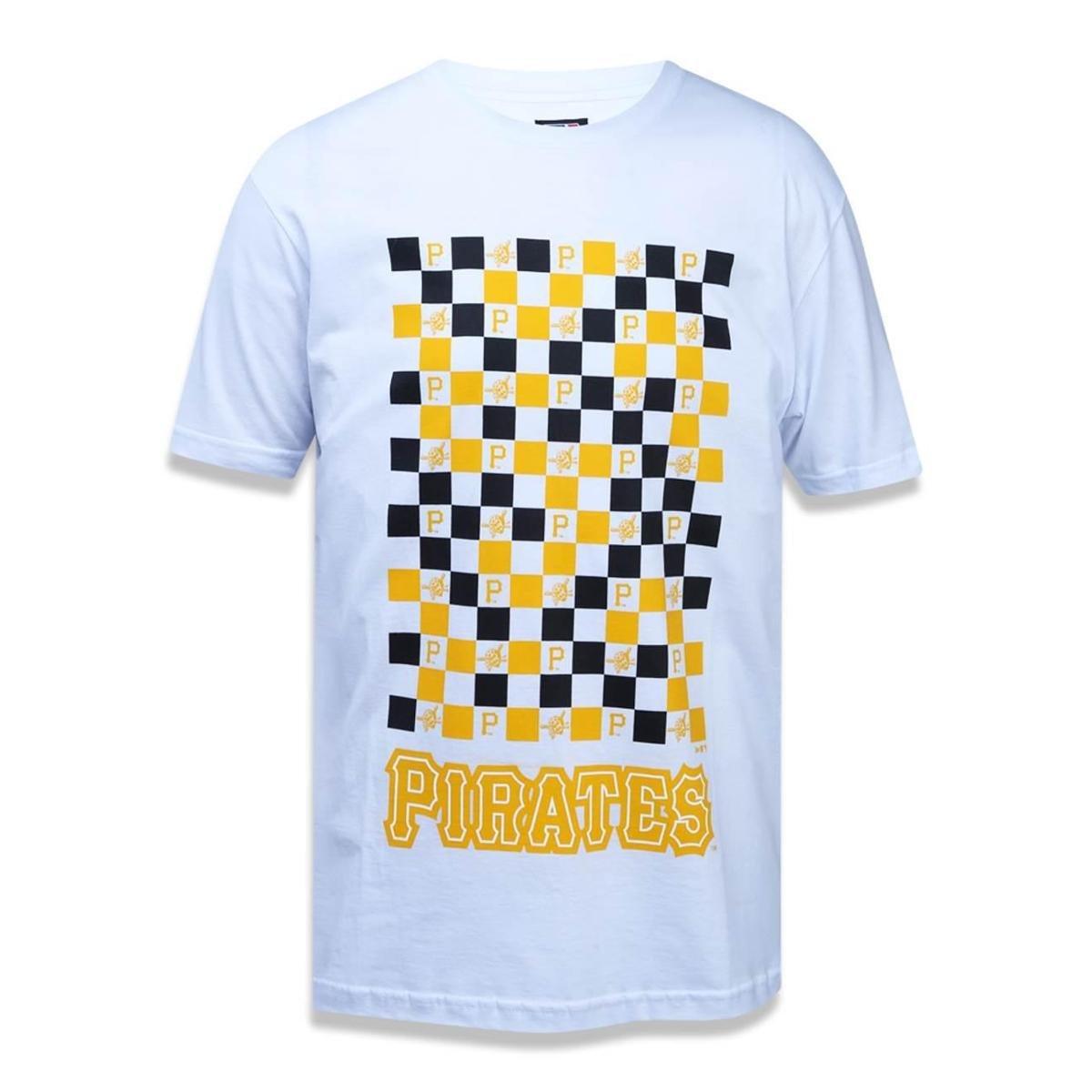 Camiseta Pittsburgh Pirates MLB New Era Masculina - Branco - Compre ... 252c16e9a21