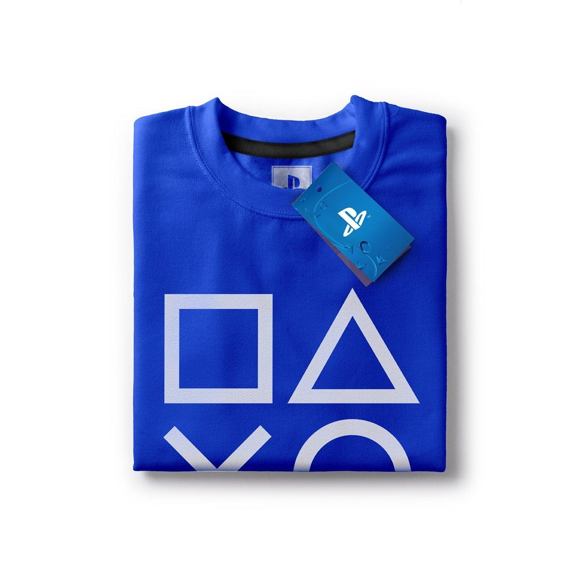da69cacf57 Camiseta Playstation Classic Symbols Masculina - Azul - Compre Agora ...