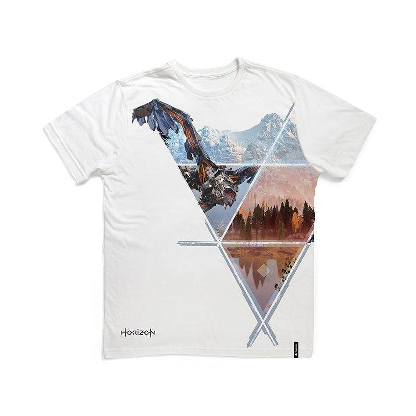 Camiseta Camiseta Playstation Branco Playstation Horizon qZqxOgwrz