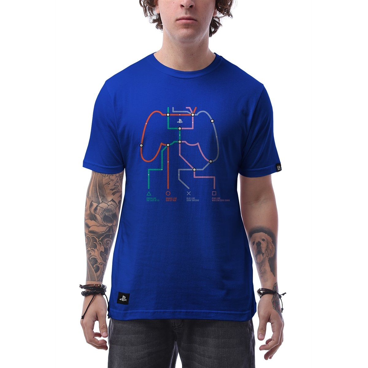 fa632c1bf2 Camiseta Playstation Play Lines Masculina - Azul - Compre Agora ...