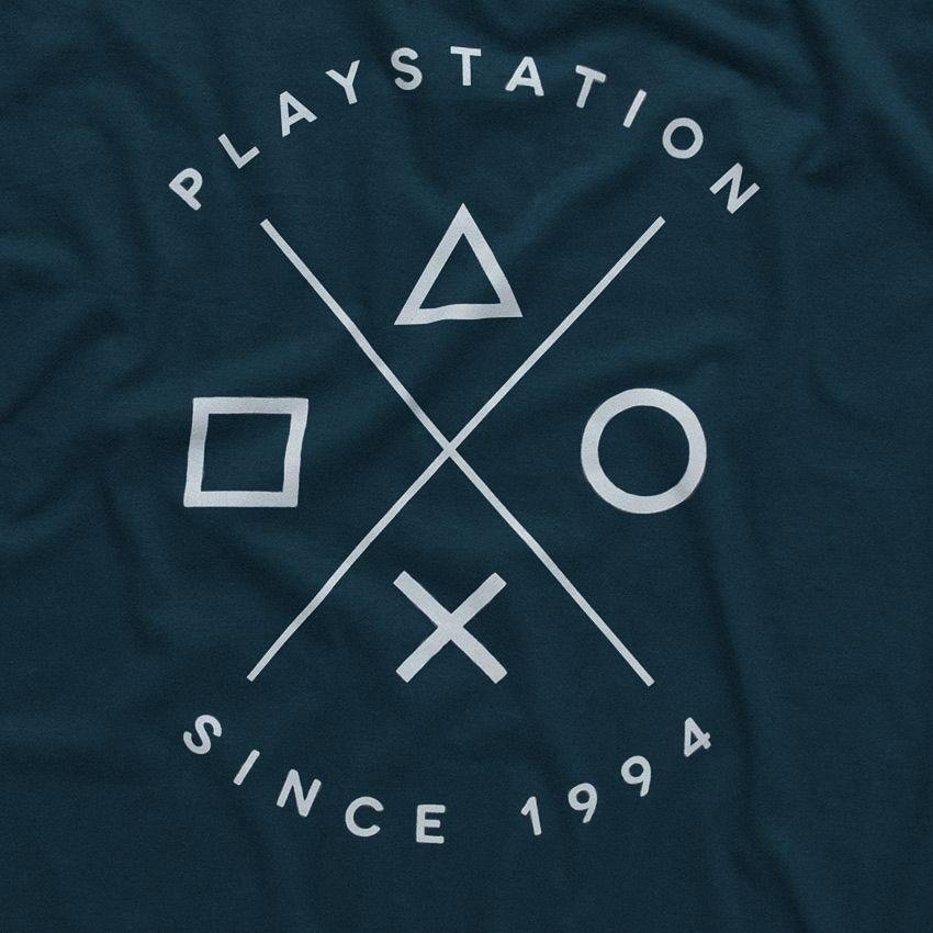 Azul Since Playstation Camiseta 1994 Escuro Playstation Camiseta q4FWT6
