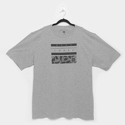 Camiseta Plus Size Hang Loose Especial Leaf Masculina