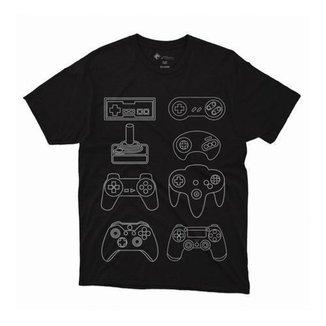 Camiseta Plus Size Masculina Controles Gamer