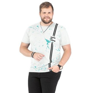 Camiseta Plus Size Masculina Estampada TZE - GRAFITE - G2