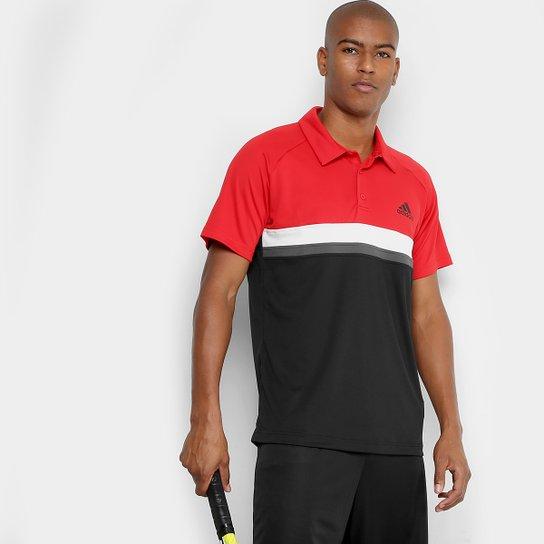 Camiseta Polo Adidas Club TD Masculina - Vermelho