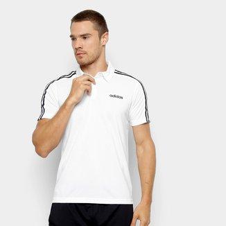 Camiseta Polo Adidas D2M 3S Masculina