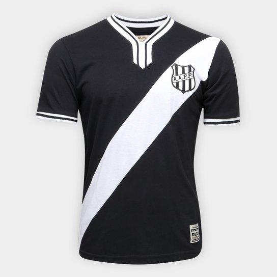 Camiseta Ponte Preta Retrô nº 10 1977 Masculina - Preto