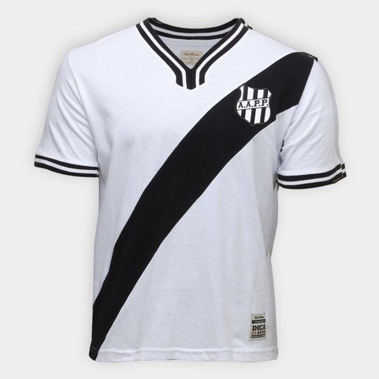 Camiseta Ponte Preta Retrô nº 10 1977 Masculina - Branco