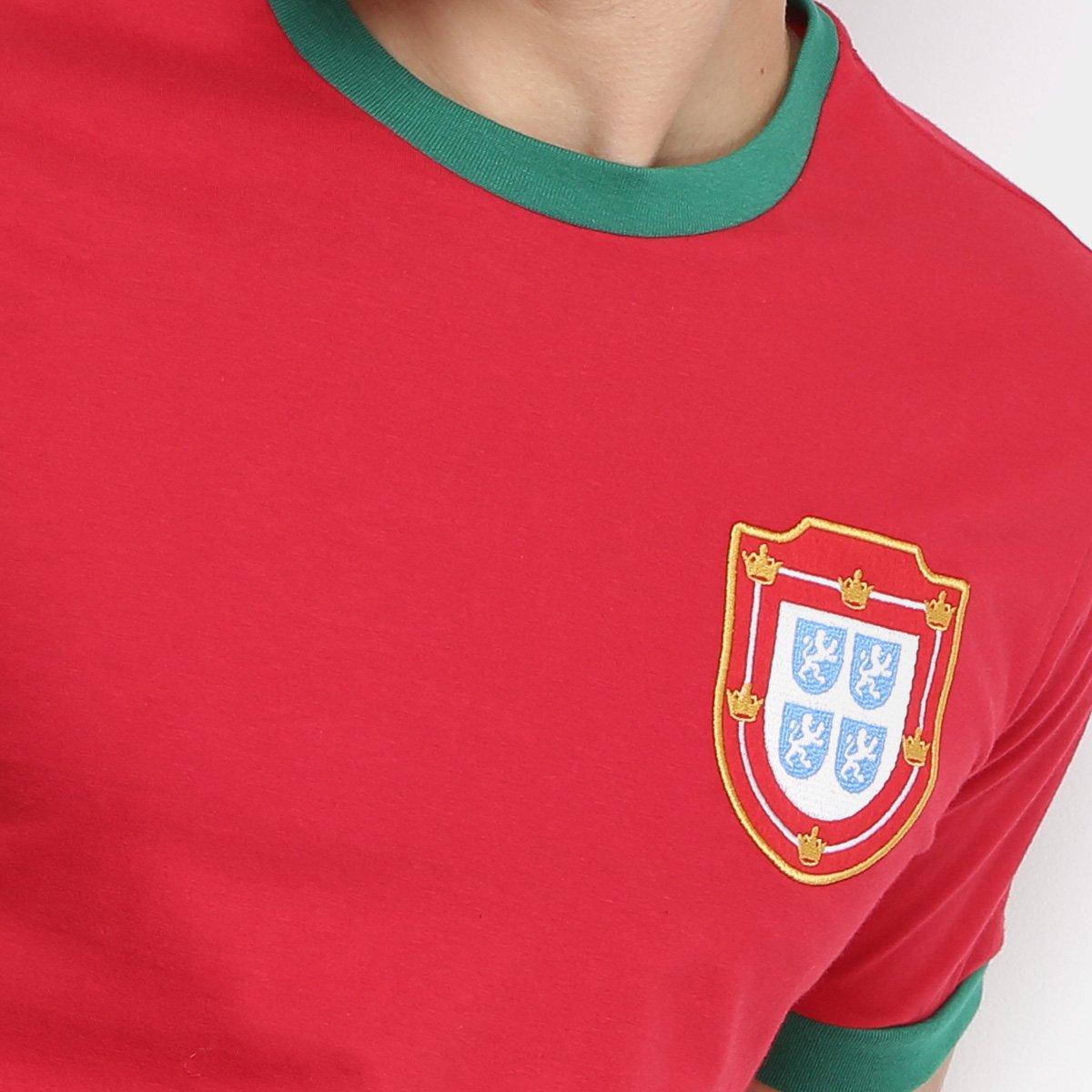 93d351548e Camiseta Portugal 1966 Retrô Times Masculina - Vermelho - Compre ...