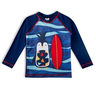 Camiseta Praia Infantil Tip Top Com Proteção Pinguim Abacaxi