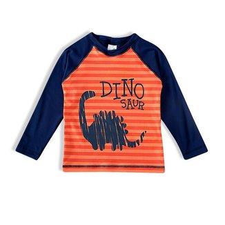 Camiseta Praia Infantil Tip Top Com Proteção UV Estampa Dinossauro