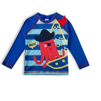 Camiseta Praia Infantil Tip Top Com Proteção UV Estampa Polvo