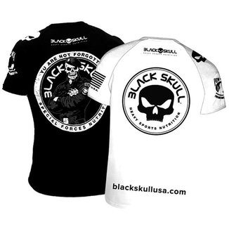 Camiseta Preta + Branca Dry Fit Esportiva de Academia - Bope e Padrão Tradicional - Black Skull