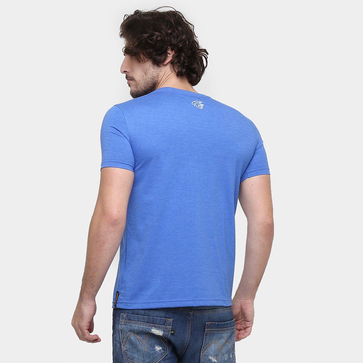 Camiseta Pretorian Beast Mode On Masculina - Azul - Compre Agora ... 77779d75e1363