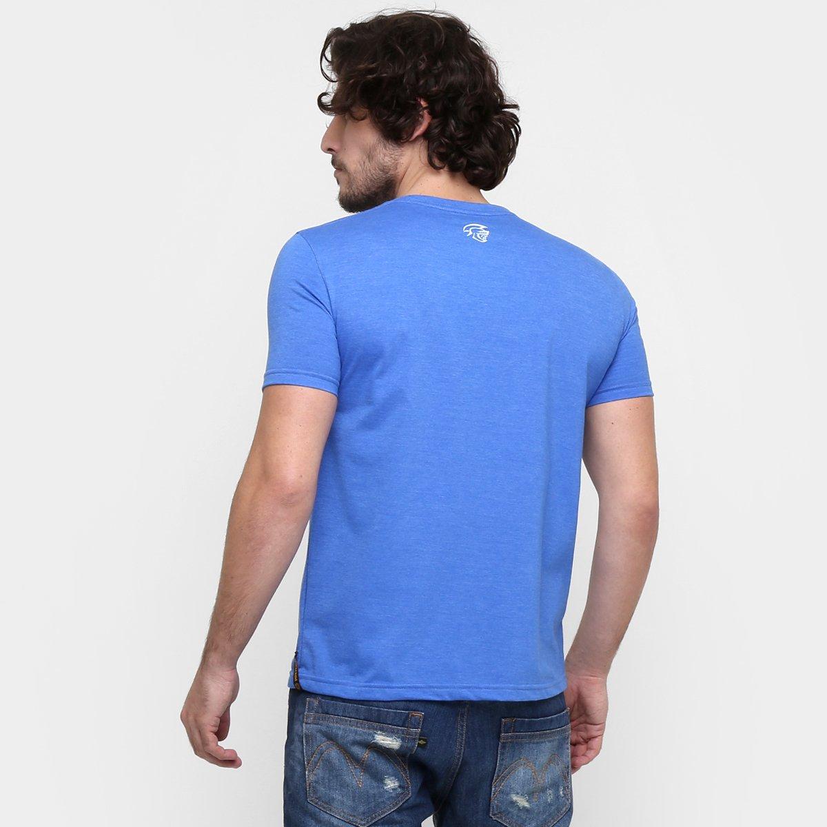 Camiseta Pretorian No Pain No Gain Masculina - Azul - Compre Agora ... 32845e5b9fcf2