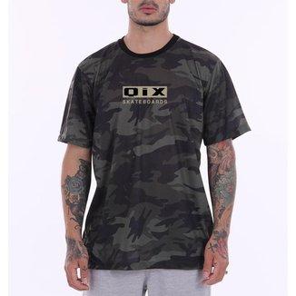Camiseta Print Qix Skateboards Camuflada