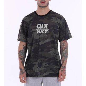 Camiseta Print Qix/Skt Camuflada
