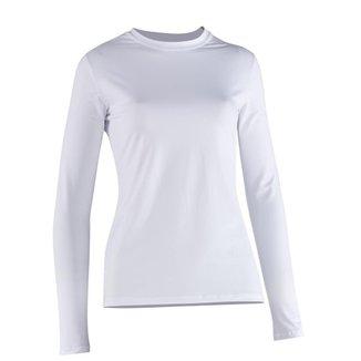 Camiseta Proteção Solar Feminina Manga Longa Uv50+ Branca