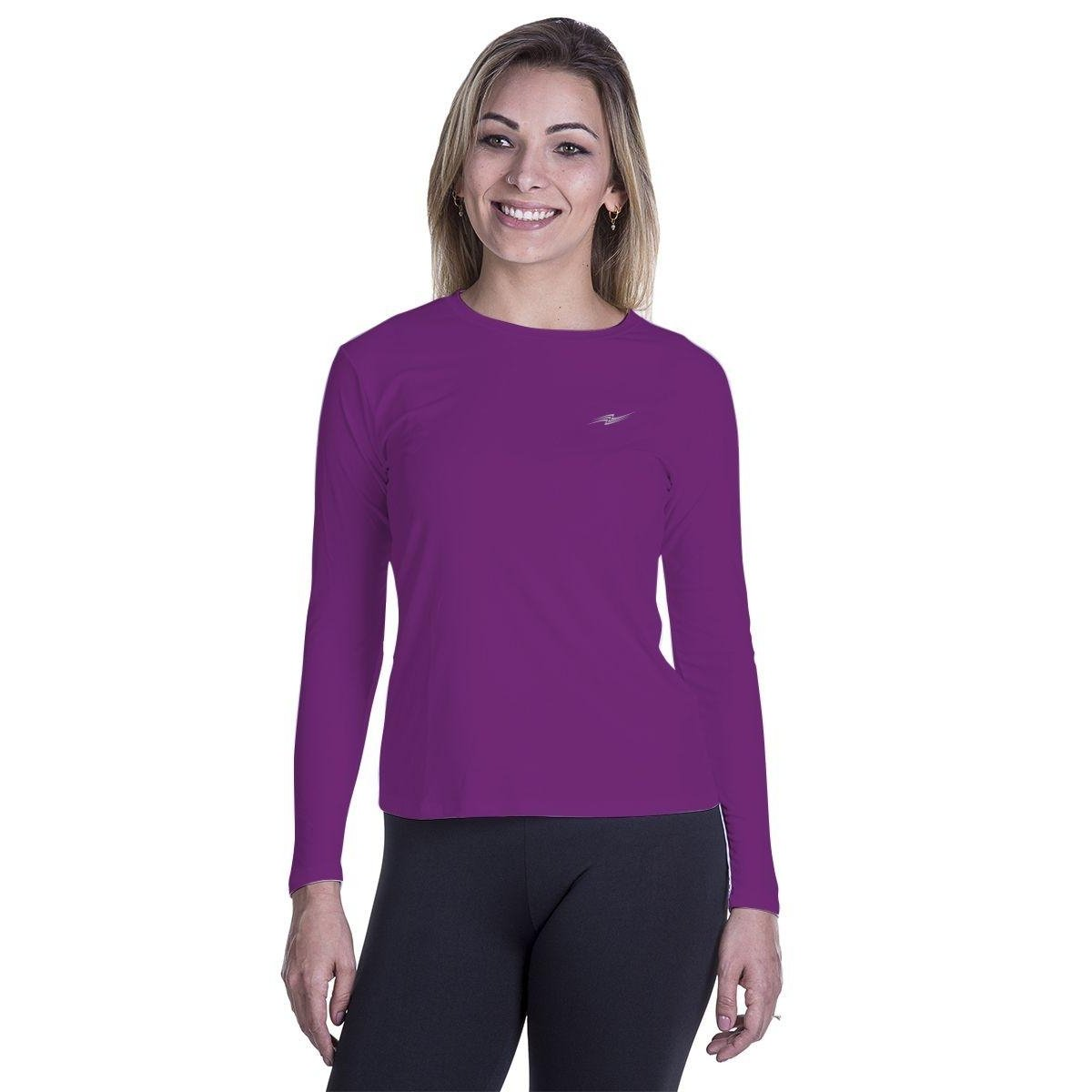 Proteção UV Camiseta Camiseta Roxo Proteção UV nfZqRR