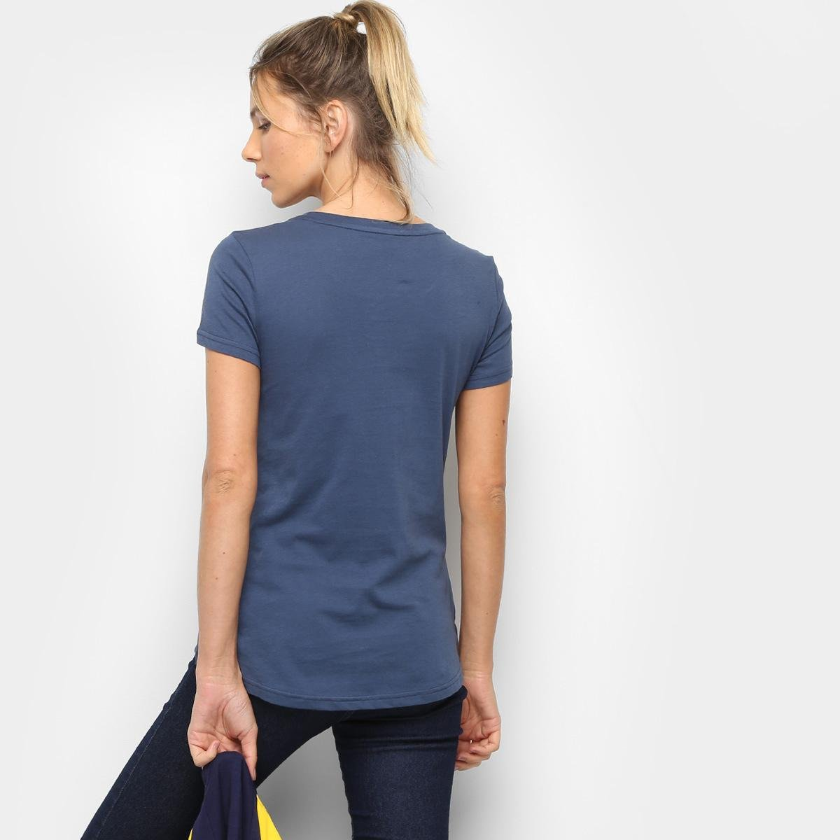Feminina Camiseta Puma Athletic Camiseta Tee Puma Azul Camiseta Feminina Azul Puma Athletic Tee rRw8zrY
