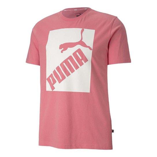 si puedes Gratificante Contratar  Camiseta Puma Big Logo Masculina - Rosa   Netshoes