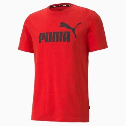 Camiseta Puma Essentials Logo Masculina - Vermelho - P