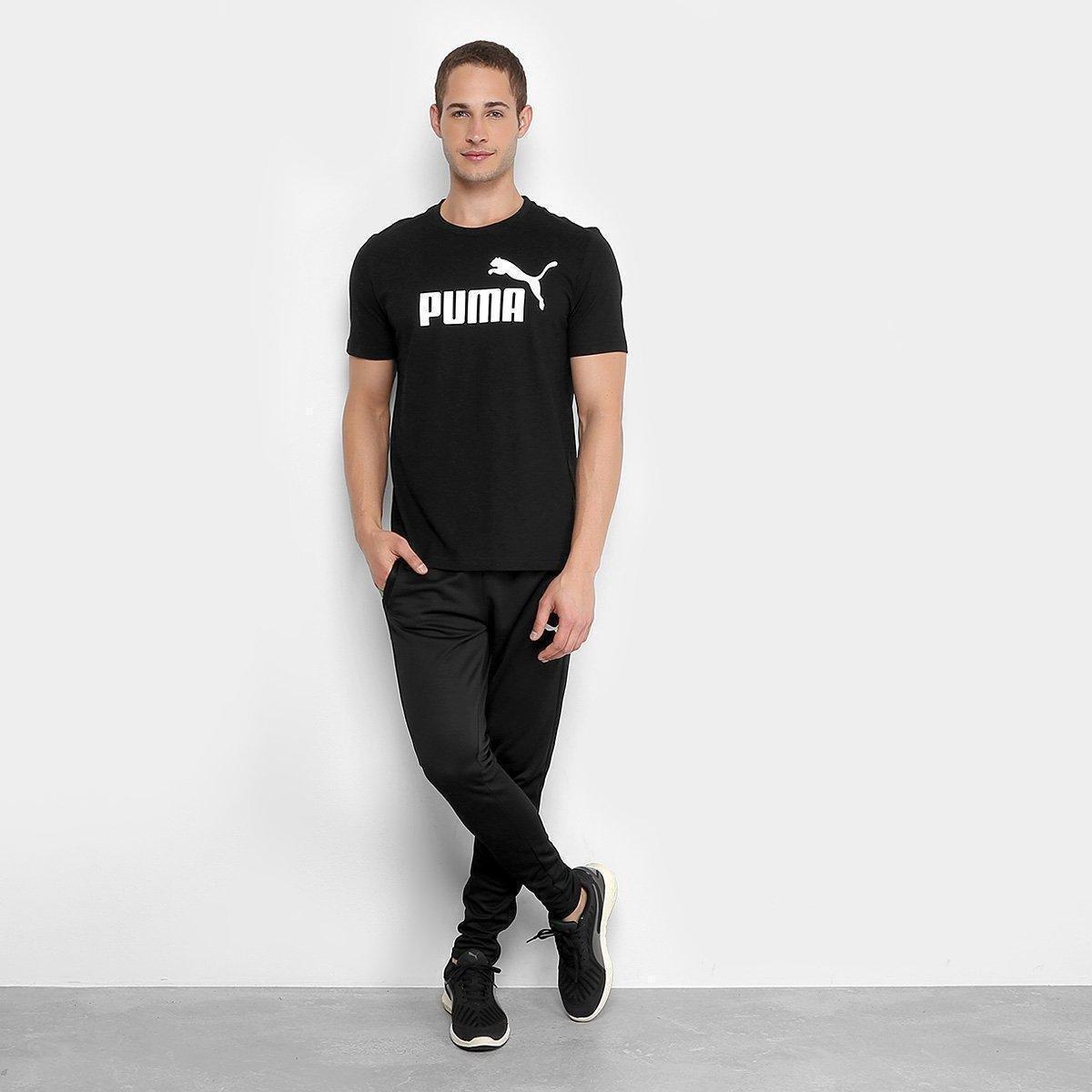 Camiseta Puma Essentials Logo Masculina - Preto - Compre Agora ... f2a54f1f9af97