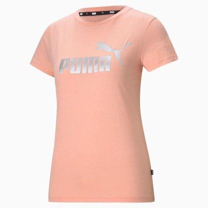 Camiseta Puma Essentials+ Metalic Logo Feminina 586890-26